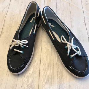 Keds women Blue Aqua canvas slip on loafers 9.5